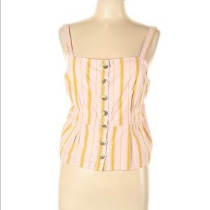 TOPSHOP Sleeveless striped top